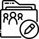 edit, outline, properties icon