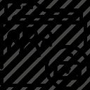 folder, outline, shared, unlocked