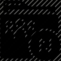 folders, solid, synchronize icon