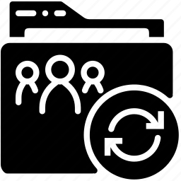 folder, refresh, shared, solid icon