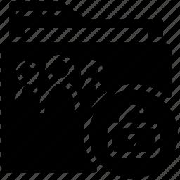 folder, shared, solid, unlock icon