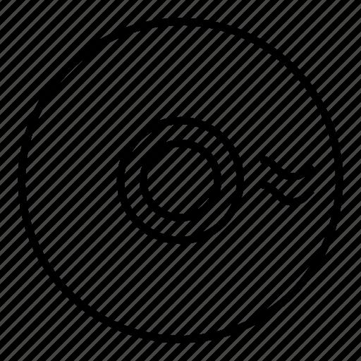cd, text icon