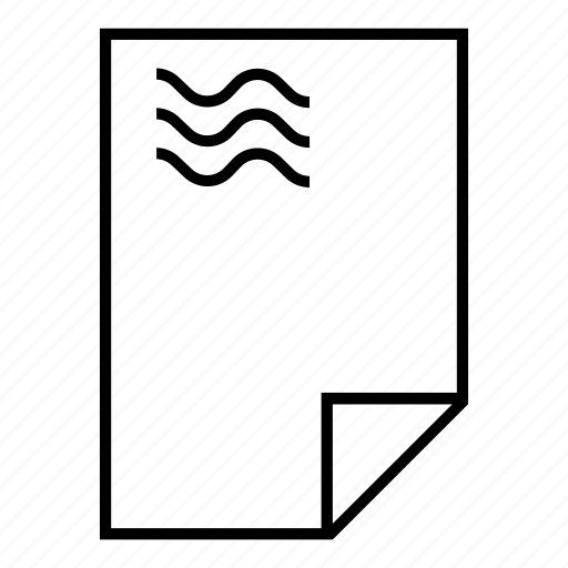 a4, curve, full, paper, text icon