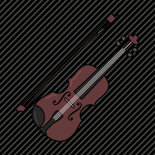 fiddle, music, play, sound, violin icon icon