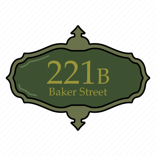 address, baker, label, sign, street icon icon