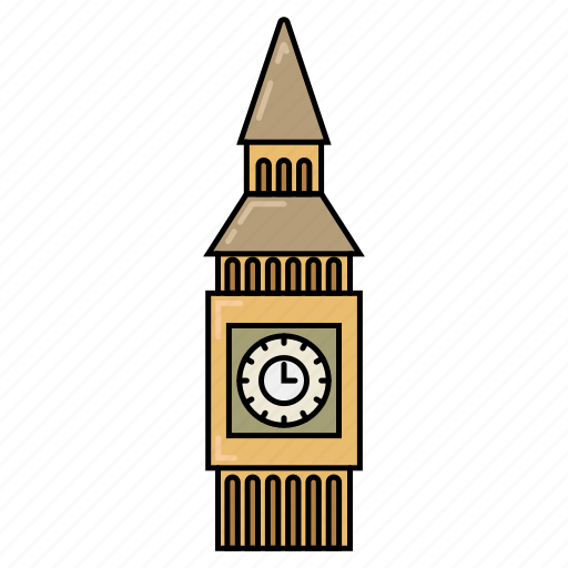 bigben, london, tower, watch icon icon