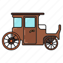 carriage, coach, coach icon, truck icon icon