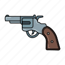 gun, pistol, revolver, shot, weapon icon