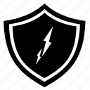 blot, protection, shield, thunder icon