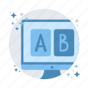 test, website, compare, experiment, test ab icon