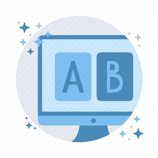 compare, experiment, test, test ab, website icon