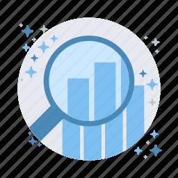 analytics, find, schedule, search icon