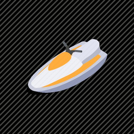 isometric, jet, sea, ski, speed, sport, water icon