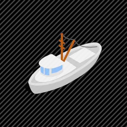 isometric, nautical, sea, ship, travel, vacation, yacht icon