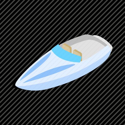 blue, boat, isometric, sea, ship, speed, travel icon