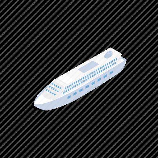 big, boat, cruise, isometric, nautical, sea, ship icon