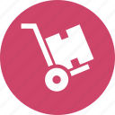 cart, hand, hand truck, luggage, platform, trolley icon