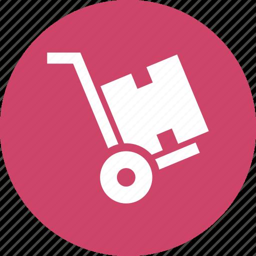 cart, hand, hand truck, luggage, platform, trolley icon