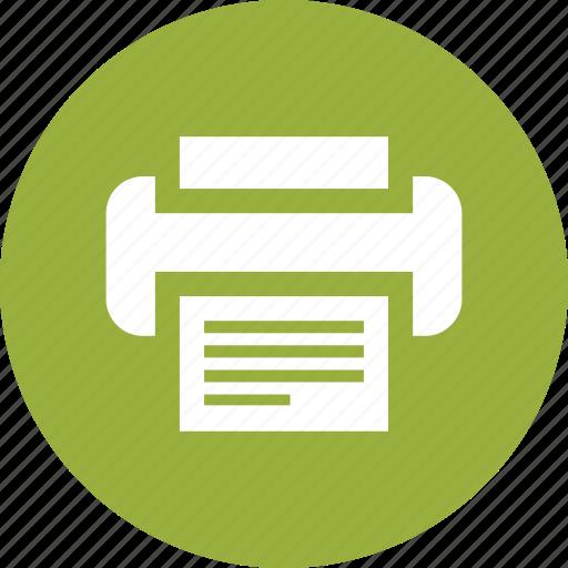 copier, document, fax, machine, office, printer, printout icon