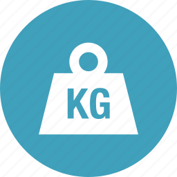 delivery, heavy, kilo, kilograms, measure, weight icon