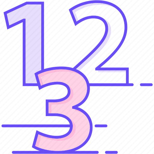 counting, number, numbers icon