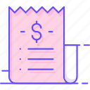 proof, receipt, paper, payment