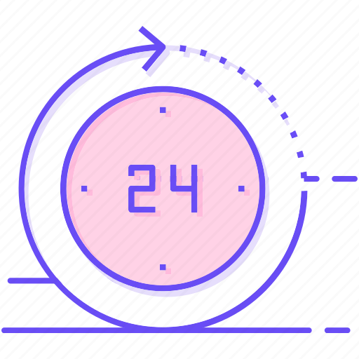 24hours, countdown, timer, watch icon