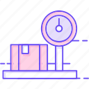 delivery, package, scale, weight icon
