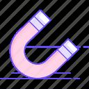 horseshoe, magnet, magnetic, physics icon