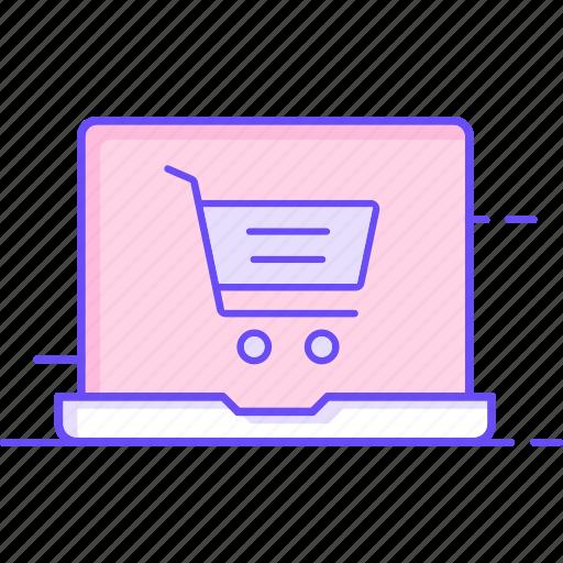 cart, laptop, online, onlineshopping icon