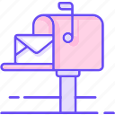 letter, mail, post, postbox icon