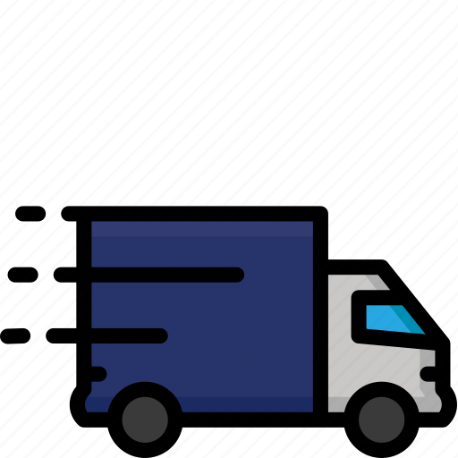 colour, delivery, lorry, quick, shipping, truck icon