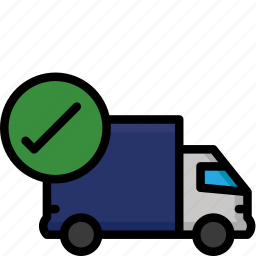 colour, complete, delivery, lorry, shipping, truck icon