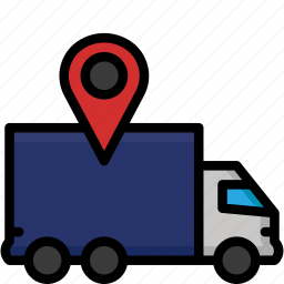 colour, delivery, shipping, track, truck icon