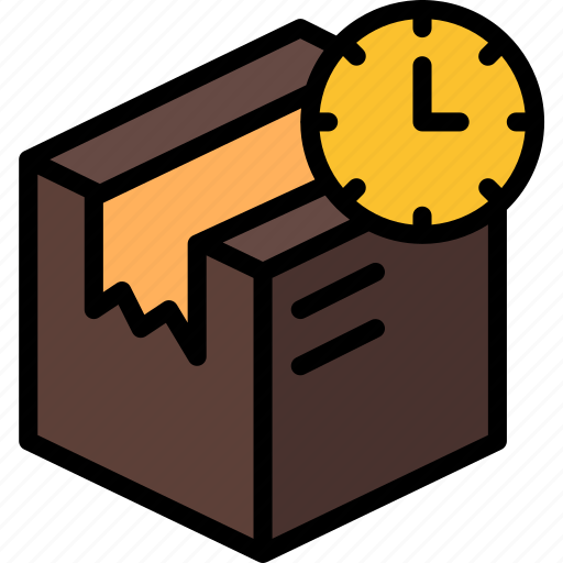 colour, delivery, in, package, parcel, shipping, transit icon