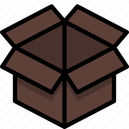 box, colour, delivery, open, package, parcel, shipping icon