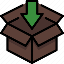 box, colour, delivery, import, package, parcel, shipping icon