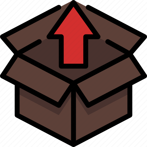 box, colour, delivery, export, package, parcel, shipping icon