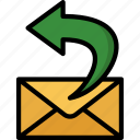 colour, delivery, mail, post, return, shipping icon