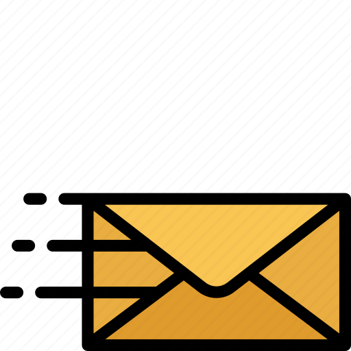 colour, delivery, mail, post, quick, shipping icon