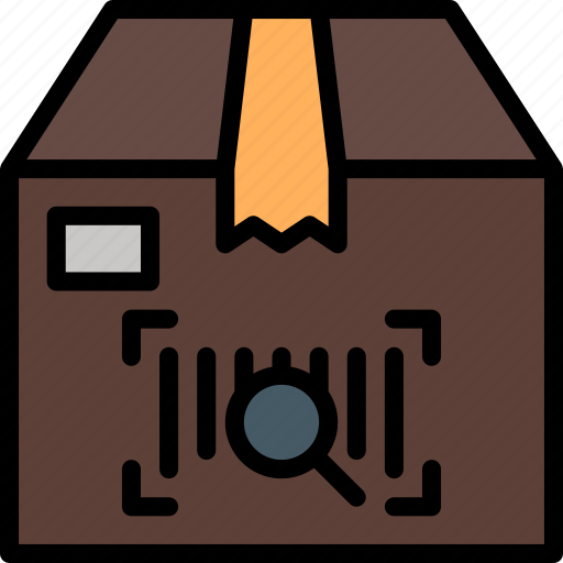 barcode, box, colour, delivery, package, scanning, shipping icon