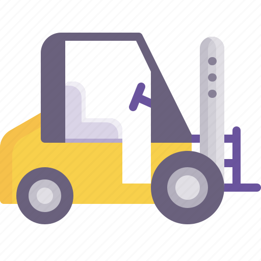 delivery, forklift, loader, logistics, shipping, vehicle, warehouse icon