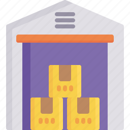 delivery, inventory, logistics, package, shipping, storage, warehouse icon