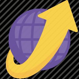 delivery, global, globe, international, logistics, shipping, worldwide icon