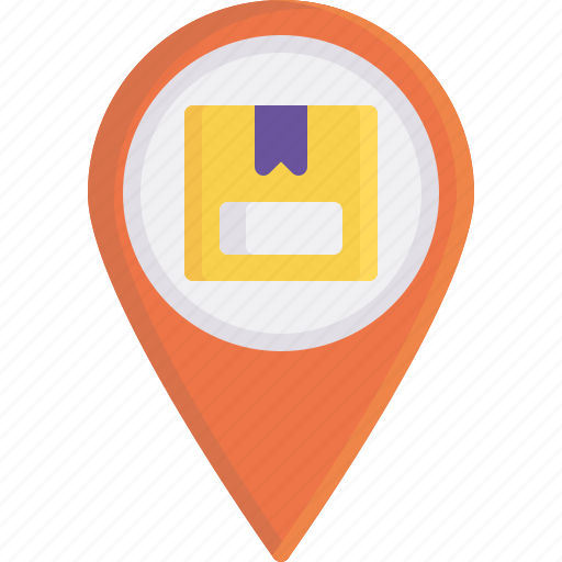 address, delivery, gps, location, logistics, shipping, tracking icon
