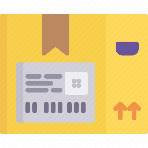 address, delivery, information, label, logistics, package, shipping icon