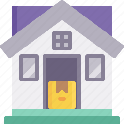 delivery, door, home, house, logistics, package, shipping icon