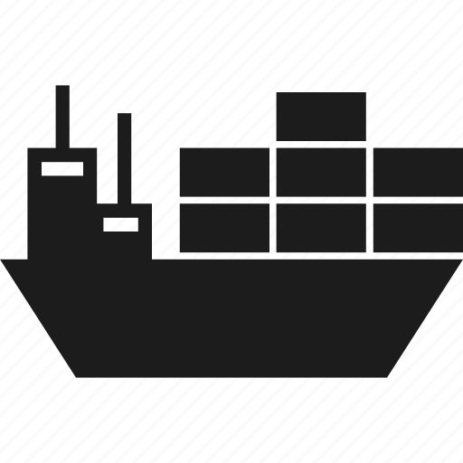 boat, freight, freighter, ship, shipping, vessel icon