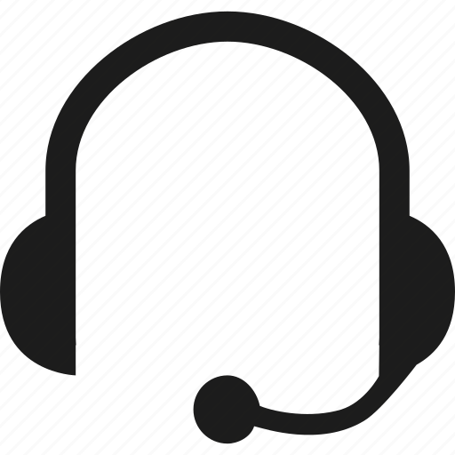 agent, communication, headset, operator icon