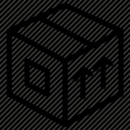 shipment, shipping, up, upload icon